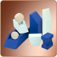 Rehabilitační klín abdukční PURO 8 -  26x16x22x14 omyvatelný