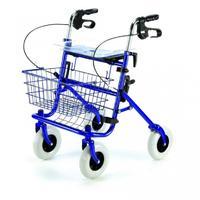Chodítko čtyřkolové Shopper skládací nastav. 76-98cm, barva: