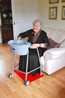 Tenura - rohož na podlahu, 60cm x 45cm, červená