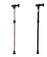 Hůl skládací dural. HS 01 - STŘÍBRNÁ, nastav.83-95cm, složená: 30cm