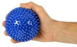 Míč masážní ježek pr. 10 cm - modrý