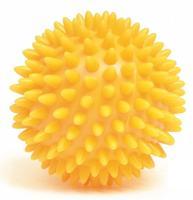 Míč masážní ježek pr. 8 cm - žlutý