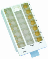 Dávkovač léků týdenní FINAL velký Obzor typ 02, zasouv. lékovka