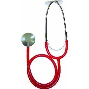 Fonendoskop jednostranný anest. červený