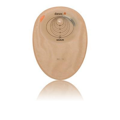 Sáček 1D uzav.DANSAC Novalife 1 MIDI, béžový, otvor 40-55/70mm, filtr Novalife, 30ks
