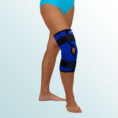 Ortéza kolenního kloubu krátká s dvouos.kloubem, rozepínací vel. M