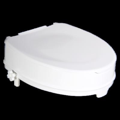 Nástavec na WC - 10 cm, dva fixační šrouby, nosnost 200 kg s víkem