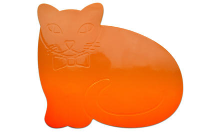 Tenura - dětská podložka na stůl, KOČKA, oranžová  - 1