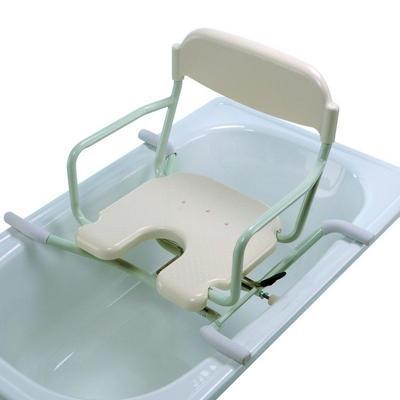 Sedačka do vany otočná s výřezem, plast.sedátko s opěrkou zad (BE-09-W)  - 1