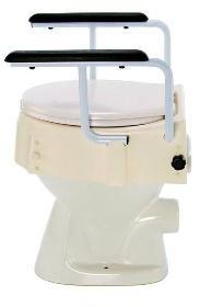 Nástavec na WC s madly - nastav.9,13,17 cm, s poklopem  - 1