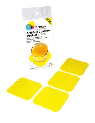 Tenura - tácky, 9cm x 9cm, žluté, 4ks