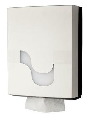 Zásobník na skládané ručníky - bílý