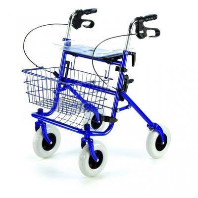 Chodítko čtyřkolové Shopper skládací nastav. 76-98cm, barva:  - 1