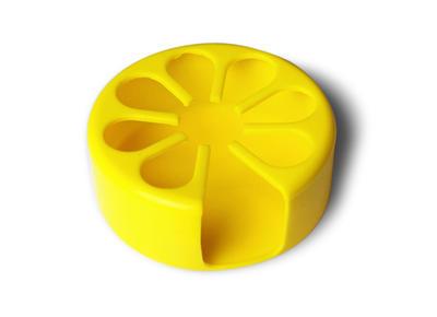 Tenura - držák na nápoje, žlutý, průměr 9cm  - 1