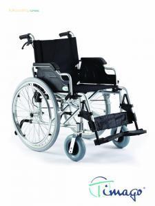 Vozík mech. AL s rychloup.syst. a  pomocnou brzdou, šíře sedačky: