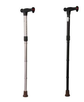 Hůl skládací dural. HS 01 - STŘÍBRNÁ, nastav.83-95cm, složená: 30cm  - 1