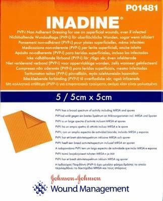 Inadine 5x5cm/5ks - sterilní  - 1