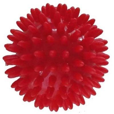 Míč masážní ježek pr. 9 cm - červený  - 1