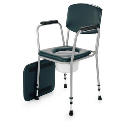 Křeslo klozet. pev., nastav.výška, nádoba+víko, polstr. toal. sedátko  - 1