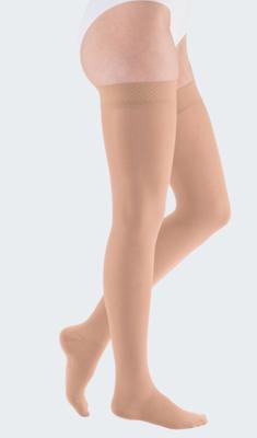 Mediven Elegance-S-punčocha stehenní, vel. 4N, lem  - 1