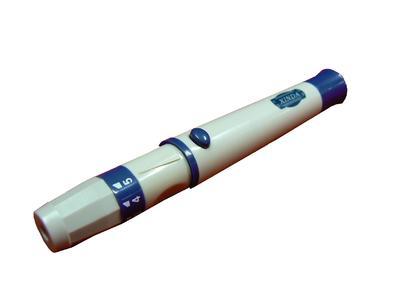 Napichovací pero - regulovaná hloubka vpichu