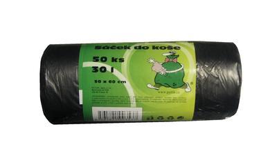 Odpadkový pytel 30 l (á50ks), černý, 500x600mm
