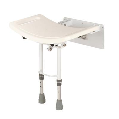 Sedačka do sprchy sklopná,plast. sedátko s madly, podpůrné nohy, nast. výška  - 1