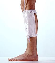 Sáček urin. sběrný lýtkový Conveen diskrétní 600ml, spoj.hadice 45 cm, 10ks  - 1