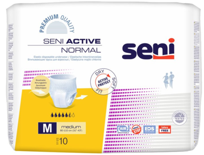 Seni Active NORMAL Medium 10ks navlékací k., REF 5132 žluté  - 1