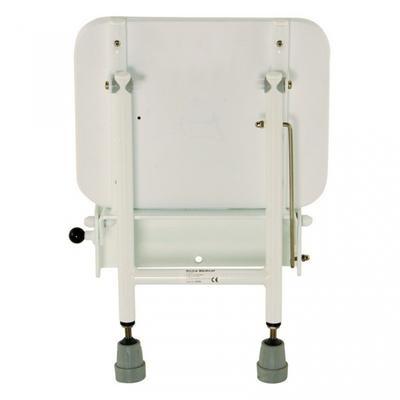 Sedačka do sprchy sklopná nast. výška, polst.sed. 33x29cm  - 2