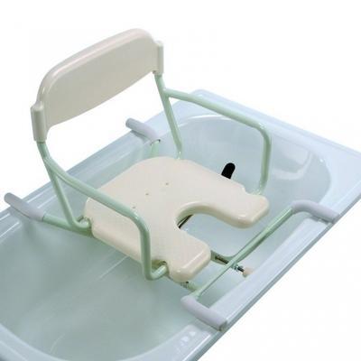 Sedačka do vany otočná s výřezem, plast.sedátko s opěrkou zad (BE-09-W)  - 2