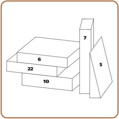 Rehabilitační klín sedací PURO 5 - 38x38x7cm bavlněný  - 2