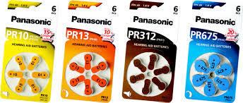 Baterie do sluchadel Panasonic PR10 (PR-230HEP/6DC)  - 2