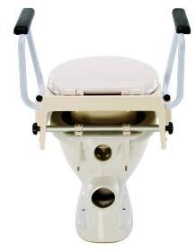 Nástavec na WC s madly - nastav.9,13,17 cm, s poklopem  - 2