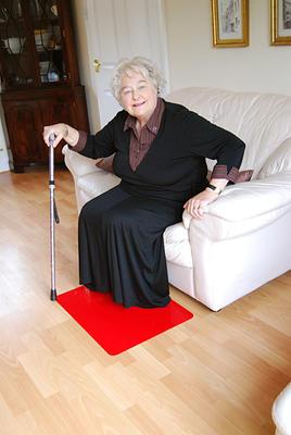 Tenura - rohož na podlahu, 60cm x 45cm, červená  - 2