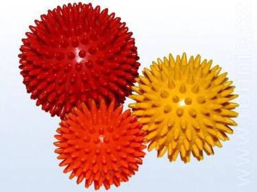 Míč masážní ježek pr. 6 cm - oranžový  - 2