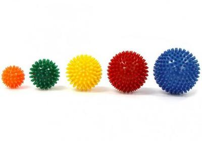 Míč masážní ježek pr. 8 cm - žlutý  - 2