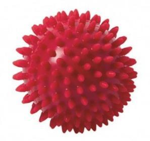 Míč masážní ježek pr. 9 cm - červený  - 2