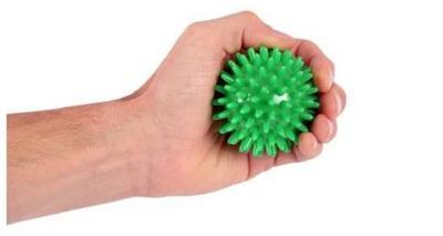 Míč masážní ježek pr. 7 cm - zelený  - 2