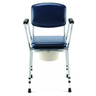 Křeslo klozet. pev., nastav.výška, nádoba+víko, polstr. toal. sedátko  - 2