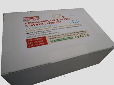Náplast poinjekční dětská 2x6cm/350ks MEDi-MED  - 2