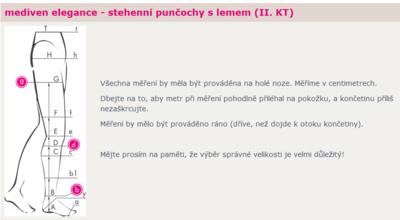 Mediven Elegance-S-punčocha stehenní, vel. 4N, lem  - 2