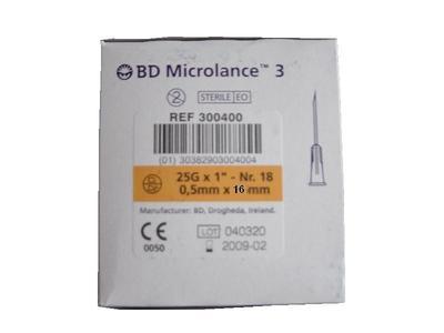 Oranž. 0,5x16 jehla B-D 25G5/8  - 2