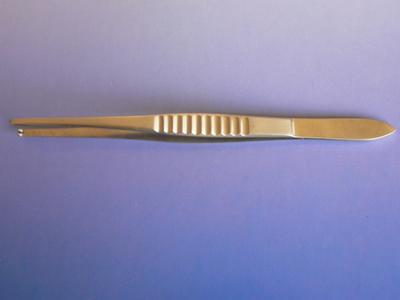Pinzeta chir.1x2 zoubky 14cm  - 2