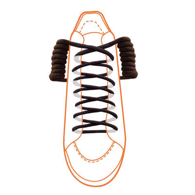 Tkaničky do bot elastické kroucené, bez vázání (1 pár)  - 2