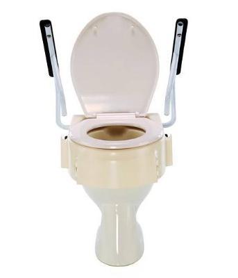 Nástavec na WC s madly - nastav.9,13,17 cm, s poklopem  - 3