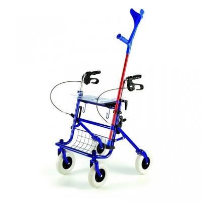 Chodítko čtyřkolové Shopper skládací nastav. 76-98cm, barva:  - 3