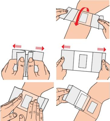 Curapor Transparent 10cmx 8cm/5ks  - 3