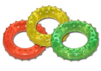 Masážní kroužek pr.7cm střední (žlutý)  - 3