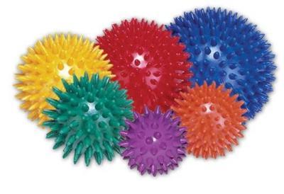 Míč masážní ježek pr. 10 cm - modrý  - 4